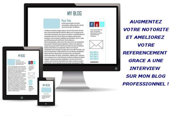 faire connaître votre entreprise en publiant une interview sur mon blog professionnel