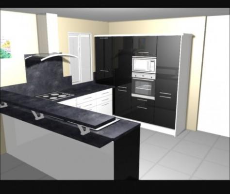 je vais cr er votre plan cuisine 3d pour 5. Black Bedroom Furniture Sets. Home Design Ideas