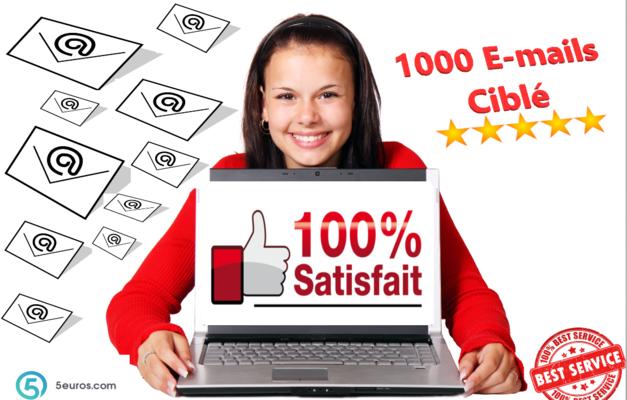 vous créer une mailing list (1000 emails)