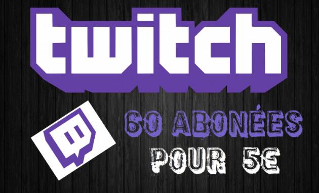 vous augmenter les abonnée de votre Compte Twitch avec 60 abonnés supplémentaire