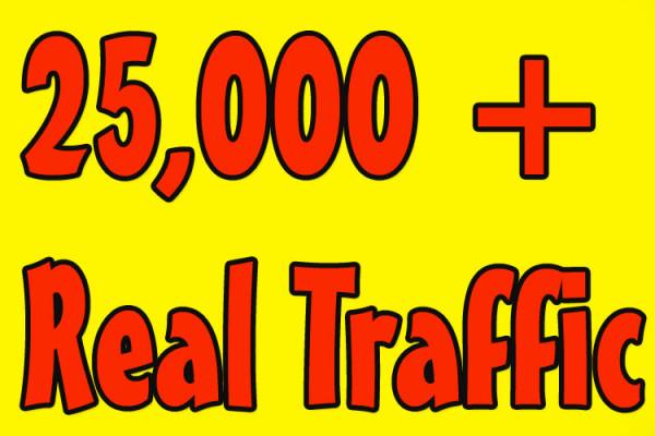 Vous donner 25,000 Réel/human/visiteurs uniques à partir de Facebook