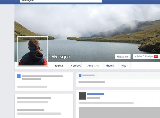 créer une photo de profil et une couverture Facebook avec 1 seule de vos photos