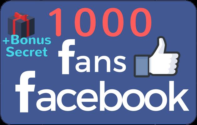 booster votre Page Facebook avec 1000 Fans + En Cadeau 1 Astuce secrète