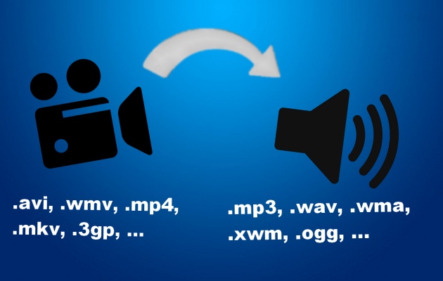 convertir 5 vidéos en fichiers audio aux formats de votre choix