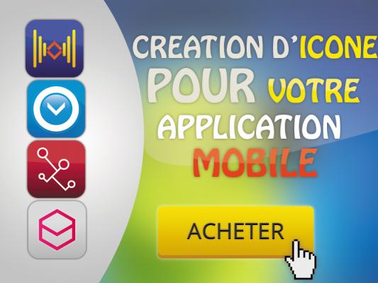 vous créer une icône pour votre application mobile