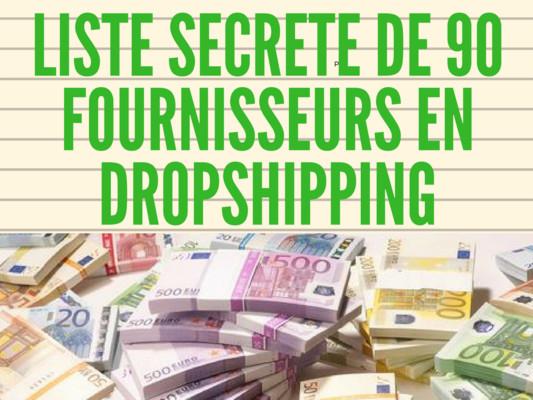 vous fournir une liste de 90 fournisseurs en Dropshipping
