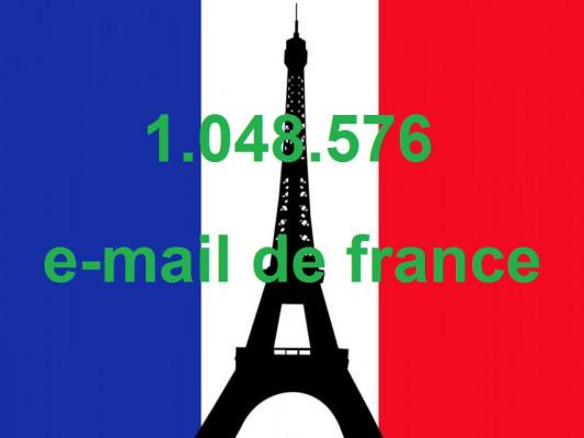 vous fournir 1.048.576 d'adresses email de france
