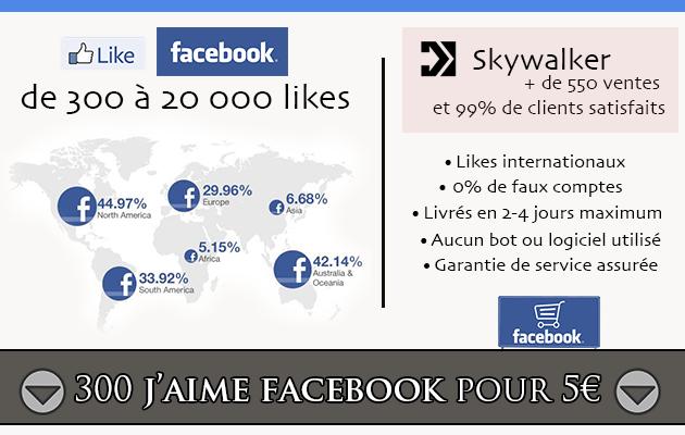 ajouter 300 j'aime à votre page Facebook