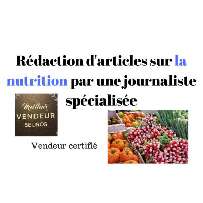 rédiger un texte professionnel de 200 mots sur la nutrition