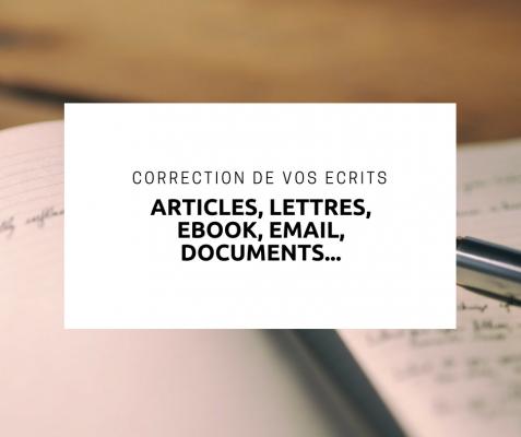 corriger vos écrits (ebook, mail, lettre, article...)