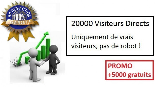 vous envoyer 20000 visiteurs + 5000 gratuit