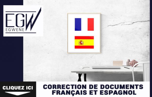 corriger les fautes d'orthographe de vos documents, en français & espagnol