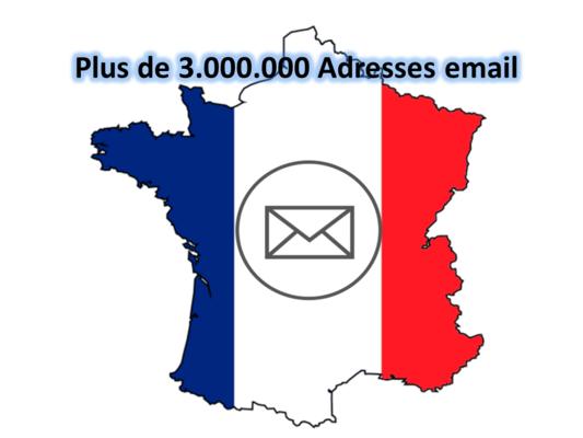 vous envoyer plus de 3.000.000 d'adresses email de professionnels et consommateurs FR