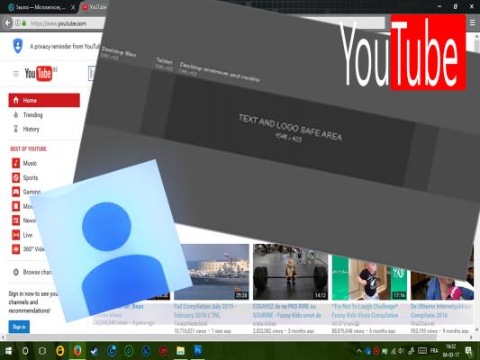 vous créer une bannière et une photo de profil pour votre chaine YouTube