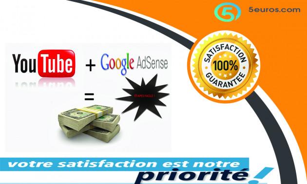 vous créer votre propre chaîne YouTube et le relier avec AdSense pour gagner d'argent