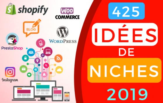 vous Donner 425 Idées de Niches Dropshipping ou Blog pour 2019