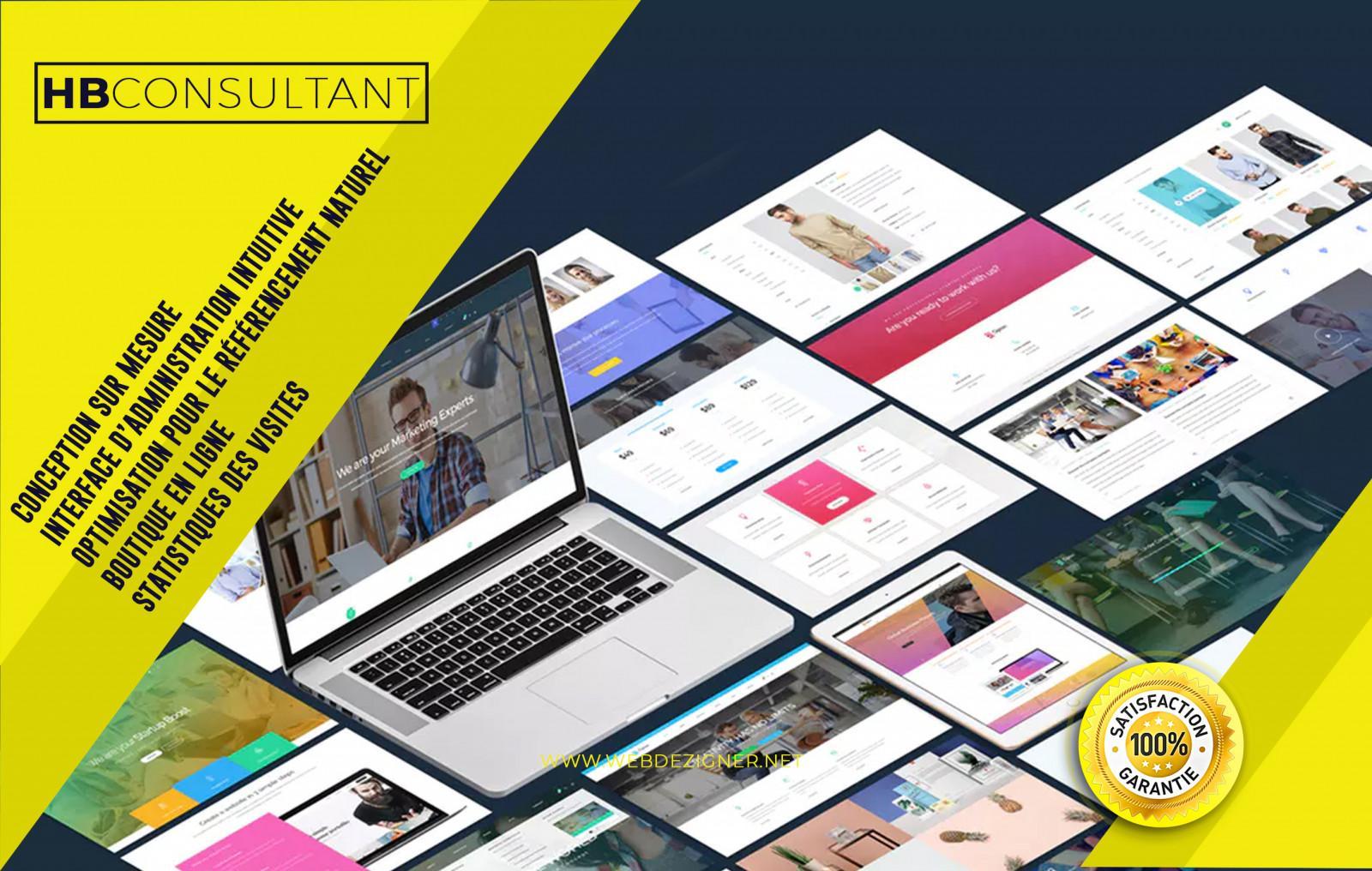 créer votre site Web professionnel clé en main : vitrine, e-commerce, sur  mesure